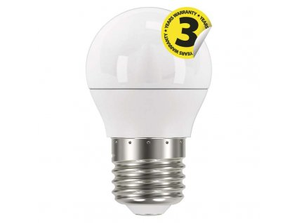 LED žárovka E27 G45 mini globe 6W náhrada za 40W neutrální nebo teplá