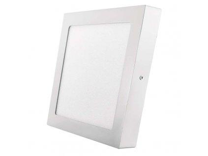 LED panel 18 W, krytí IP20 - pro vnitřní prostředí, rozměry224 × 224 × 40 mm, náhrada za žárovku 100 W, svítivost 1 500 lm, 4 000 K, barva světla neutrální bílá, čtvercové svítidlo přisazené, materiál hliník/plast, bez PIR senzoru