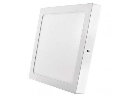 LED panel 24 W, krytí IP20 - pro vnitřní prostředí, rozměry300 × 300 × 40 mm, náhrada za žárovku 125 W, svítivost 2 000 lm, 3 000 K, barva světla teplá bílá, čtvercové svítidlo přisazené, materiál hliník/plast, bez PIR senzoru