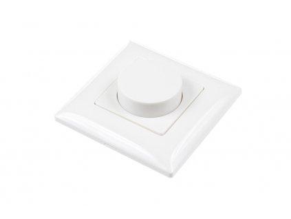 Nástěnný triakový stmívač na 230 V pro LED, RF přijímač stmívač LED 1x1 A 100-240 V AC, maximální zatížení při 240 V AC 240 W, pro dálkové ovladače dimLED, rozměry 86 x 86 x 48,5 mm