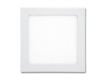 LED panel 18 W, krytí IP20 - pro vnitřní prostředí, rozměry 225 x 225 mm, montážní otvor 205 x 205 mm, svítivost 1 530 lm, 2 700 K, barva světla teplá bílá, čtvercové svítidlo vestavné, materiál hliník/plast, barva rámu BÍLÁ standard, včetně pružin a trafa