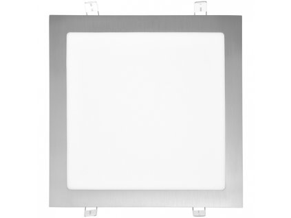 LED panel 25 W, krytí IP20 - pro vnitřní prostředí, rozměry 300 x 300 mm, montážní otvor 280 x 280 mm, svítivost 2 240 lm, 2 700 K, barva světla teplá bílá, čtvercové svítidlo vestavné, materiál hliník/plast, barva rámu CHROM lesklý, včetně pružin a trafa