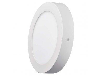 LED panel Emos 12W kruh bílý přisazený ZM5131, cena 349 Kč, krytí IP20, pro vnitřní prostředí, průměr 170 × 40 mm, svítivost 1000 lm, 4 000 K, barva světla neutrální bílá, materiál plast/hliník, náhrada za žárovku 70 W. TopLux Praha skladem