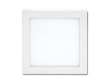 LED panel 12 W, krytí IP20 - pro vnitřní prostředí, rozměry17 x 17 x 3 cm, svítivost 860 lm, 2 700 K, barva světla teplá bílá, čtvercové svítidlo přisazené, materiál hliník/plast, barva rámu BÍLÁ standard, včetně pružin a trafa