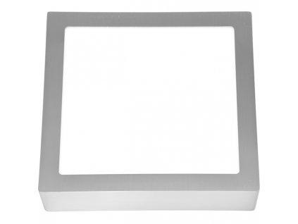 LED panel 12 W, krytí IP20 - pro vnitřní prostředí, rozměry 17 x 17 x 3 cm, svítivost 860 lm, 2700 K, barva světla teplá bílá, čtvercové svítidlo přisazené, materiál hliník/plast, barva rámu CHROM lesklý, včetně pružin a trafa