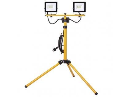 LED reflektor 2x20 W, krytí IP65, IK08, rozměry 860 × 860 × 1850 mm, náhrada za žárovku 520 W, svítivost 2 x 1 600 lm, 4 000 K, barva světla neutrální bílá, materiál: hliník, bez PIR senzoru
