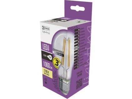 LED RETRO stmívatelní žárovka EMOS filament čirá E27 A60 8,5W