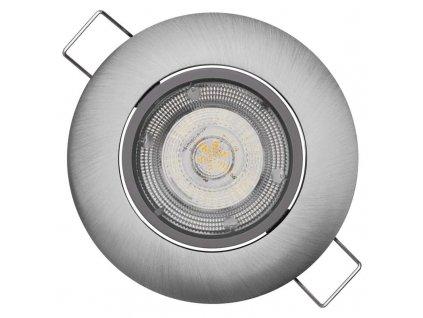 Stříbrné LED bodové svítidlo EMOS Exclusive 5W vestavné, teplá bílá ZD3221. TopLux Praha skladem