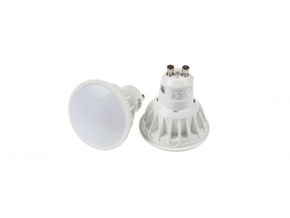 LED žárovka 4 W, patice GU10, integrovaný RGB+CCT přijímač, svítivost až 250 lm, rozměry57 × 50 mm(p/v), střídání a prolínání barev, teplota chromatičnosti 2 700 - 6 500 K