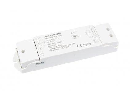 RF přijímač stmívač LED 4x5 A 12-36 V DC, maximální zatížení při 12 V 240 W; při 24 V 480 W, pro RGBW ovladače dimLED, rozměry 175 x 45 x 27 mm