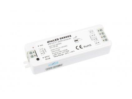 RF přijímač stmívač LED 2x5 A 12-36 V DC, maximální zatížení při 12 V 120 W; při 24 V 240 W, pro dálkové CCT ovladače dimLED, rozměry 97 x 33 x 18 mm