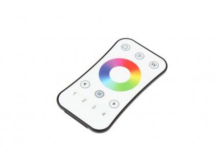 LED dálkový ovladač čtyřkanálový 4KR, RGBW radiofrekvenční ovladač dimLED, pro RGB a RGBW pásky, nový design a funkce, rozměry 107 x 58,5 x 9 mm, dosah ovladače až 30 m