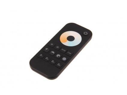 Radiofrekvenční dálkový jednokanálový ovladač pro stmívání LED svítidel dimLED OVM CCT 1KRM 069134. Dálkové stmívání 12V až 24V LED pásků a světel. Bi-Color