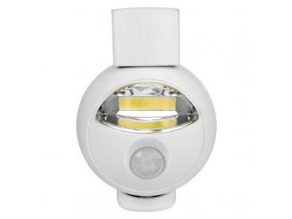 COD noční orientační světlo s PIR čidlem na 3x AA tužkové baterie P3311 Na 3x AA baterie LED noční světlo s PIR čidlem na 3x AA baterie a otočnou hlavou. Malé rozměry, detekce intenzity světla. Praktická do ložnice či chodby. PIR čidlem s otočnou hlavou