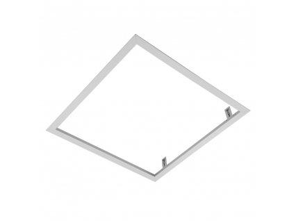 Hliníkový vestavný bílý rám 60x60cm 600x600 mm pro LED panel. Montážní sada pro zapuštění LED panelu do SDK sádrokartonu, vestavba rámečku do podhledu
