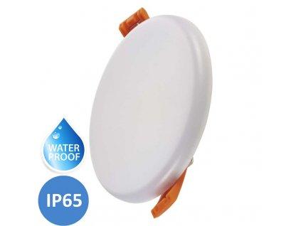 LED koupelnový panel EMOS Dew 8W neutrální denní IP65 kruhový bílý vestavný do podhledu ZV1122. TopLux Praha skladem