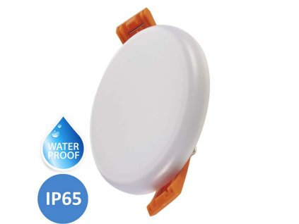 LED koupelnový panel EMOS Dew 6W teplá bílá IP65 kruhový bílý vestavný do podhledu ZV1111. TopLux Praha skladem