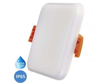 LED koupelnový panel EMOS Dew 6W teplá bílá IP65 čtvercový bílý vestavný do podhledu ZV2111. TopLux Praha skladem