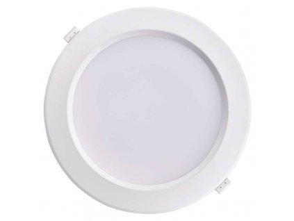 LED downlight 19 W, krytí IP20 - pro vnitřní prostředí, rozměry:∅ 245 x 99 mm, náhrada za žárovku 120 W, svítivost 1 900 lm, barva světla neutrální bílá, 4 000 K, kruhové svítidlo vestavné do podhledu, materiál plast (PC, PBT)