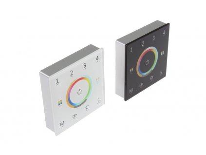 LED dálkový ovladač dimLED OV WRF-ALLMIX-4CH je bezdrátový radiofrekvenční ovládací systém, jednoho ovladače a několik přijímačů. S jedním ovladačem lze ovládat nezávisle 4 zóny, která se může skládat z několika přijímačů. Tyto přijímače se po sehrání na jednotlivé předvolbě na ovladači ovládají jako jedna sekce. Ovladač dimLED OV WRF-ALLMIX-4CH ALLMIX lze použít pro ovládání jednobarevných, CCT, RGB nebo RGBW LED pásků. Jedním ovladačem tedy můžete například ovládat jak jednobarevné LED pásky, tak i RGB LED pásky, aniž byste museli mít 2 různé ovladače. Přijímač může být ukrytý (za zdí, sádrokartónem či ve skříni), není nutná přímá viditelnost přijímače pro ovladač.  Ovladač nabízíme ve dvou barevných variantách - černá a bílá  Vlastnosti a výhody systému dimLED: Stmívání je stabilní a spolehlivé, dosah ovladače ≤ 30M. Stmívání v rozmezí 0-100%, stmívání měkké, bez blikání. Při zapnutí dojde k pozvolnému rozsvícení, při vypnutí dojde k pozvolnému setmění.