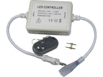 Napájecí kabel pro LED pásek na 230V  Pro jednobarevný LED pásek  S dálkovým ovladačem Výkon do 500W adaptér/trafo