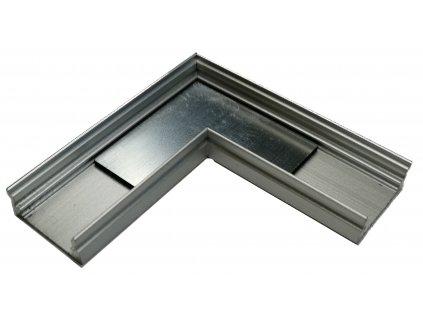 Spojovací roh 5x5cm pro hliníkový profil Surface-1 stříbrný 17x8mm - chladící LED ALU přisazená lišta pro LED pásek. TopLux Praha skladem