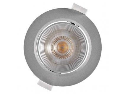 Stříbrné LED bodové svítidlo EMOS Step 6,5W vestavné, teplá bílá - stmívatelné tříkrokově ZD3630S. TopLux Praha skladem