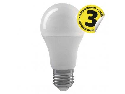 LED žárovka 10 W, náhrada za žárovku 60 W, patice (uchycení)E27, tvar Classic A60, svítivost 806 lm, barva světla teplá bílá, 2 700 K, rozměry 60 × 110 mm, úhel vyzařování 300°, 3 stupně stmívání, záruka 3 roky