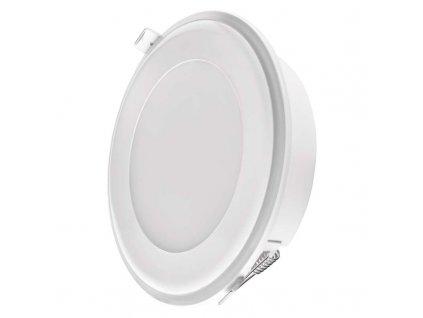 Bílé LED bodové svítidlo EMOS 2V1 13W vestavné + noční osvětlení, neutrální bílá ZD1322 LED vestavné svítidlo 13 W Funkce tříkrokového nastavé svítidla Dekorativní / noční osvětlení rámečku Krytí IP20 - pro vnitřní prostředí Rozměry: průměr 148 × 38 mm Montážní otvor 130 mm Náhrada za žárovku 100 W Svítivost 800 lm Barva světla - 4000K neutrální(denní) bílá