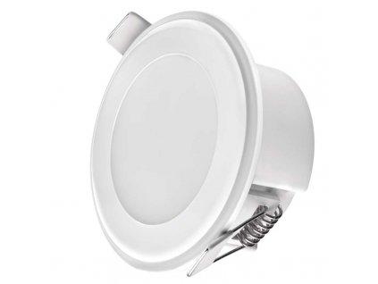 Bílé LED bodové svítidlo EMOS 2V1 5,5W vestavné + noční osvětlení, neutrální bílá ZD1312 LED vestavné svítidlo 5,5 W Funkce tříkrokového nastavé svítidla Dekorativní / noční osvětlení rámečku Krytí IP20 - pro vnitřní prostředí Rozměry: průměr 82 × 40 mm Montážní otvor 65 mm Náhrada za žárovku 40 W Svítivost 300 lm Barva světla - 4000K neutrální(denní) bílá