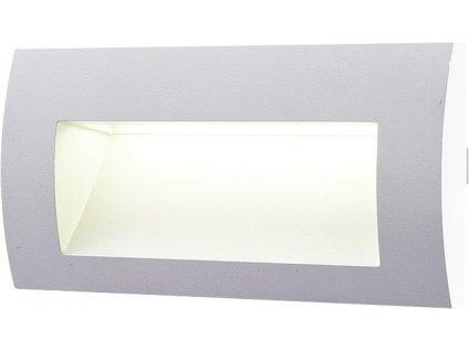 LED venkovní svítidlo GREENLUX WALL 20 3W GRAY 3000K vestavné, teplá bílá GXLL010