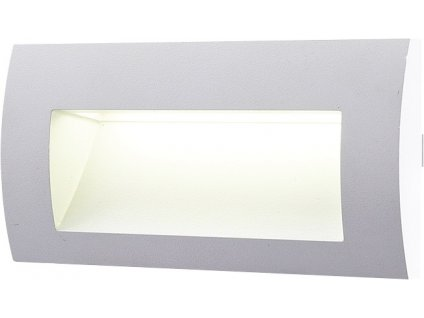 LED venkovní vestavné svítidlo 3 W, krytí IP65 - pro venkovní použití, rozměry: 140 x 70 x 48mm, svítivost 100 lm, barva světla teplá bílá, 3 000 K, materiál: hliník/plast, atraktivní design, 15 x LED SMD čip 2835