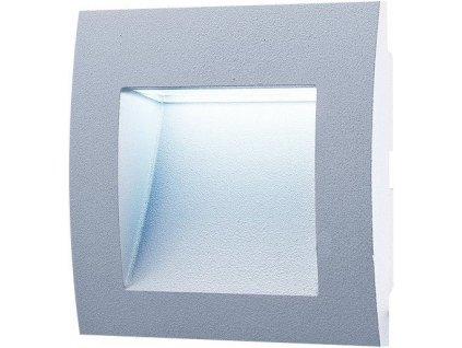 LED venkovní svítidlo GREENLUX WALL 10 1,5W GRAY 6500K vestavné, studená bílá GXLL002