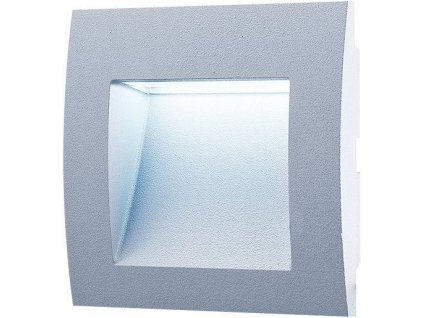 LED venkovní vestavné svítidlo 1,5 W, krytí IP65 - pro venkovní použití, rozměry: 90 x 90 x 46mm, svítivost 30 lm, barva světla studená bílá, 6 500 K, materiál: hliník/plast, atraktivní design, LED SMD čip 2835