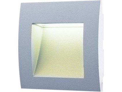 LED venkovní vestavné svítidlo 1,5 W, krytí IP65 - pro venkovní použití, rozměry: 90 x 90 x 46mm, svítivost 30 lm, barva světla teplá bílá, 3 000 K, materiál: hliník/plast, atraktivní design, LED SMD čip 2835