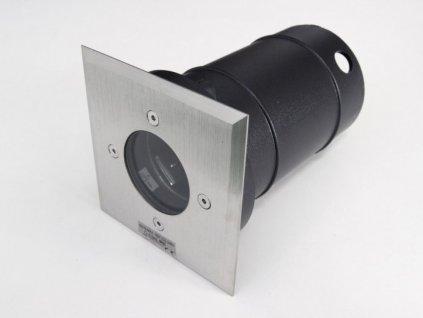LED venkovní nájezdové svítidlo, max. výkon 35 W, krytí IP67 - pro venkovní použití, materiál: ocelový plech/kalné sklo, patice GU10/GZ10, barva svítidla: matný chrom