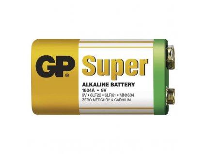 GP Super 6LF22 alkalická baterie 9V, B1351 Alkalická baterie 6LF22 Rozměry 26,5 × 17,5 × 48,5 mm Cena uvedena za kus Pro energeticky nenáročná zařízení