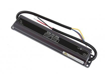 LED napájecí zdroj 24V 60W pro LED pásky - voděodolné trafo 2,5A IP67 05619
