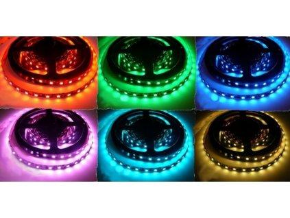 RGB - barevný LED pásek 12V 7,2W dlouhá životnost vysoká kvalita a svítivost bez úbytků svítivosti. Cena 139 Kč/m. IP20 vnitřní použití, prodloužená záruka. TopLux Osvětlení Praha, Libeň