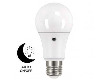 LED žárovka EMOS 9W E27 A60 s fotosenzorem, teplá bílá ZQ5140L