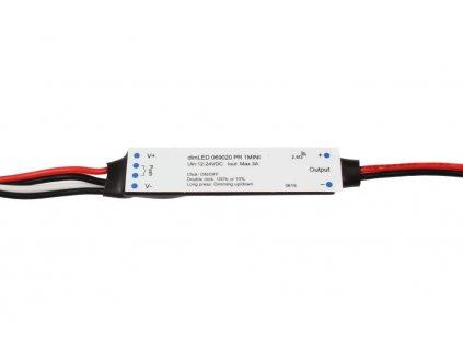 dimLED PR 1MINI přijmač stmívač pro LED osvětlení 069020 RF přijímač stmívač LED 1x3A 12-24VDC Maximální zatížení při 12V 36W; při 24V 72W Pro dálkové ovladače dimLED, max. 10ks Rozměry 60 x 14 x 5 mm TopLux Osvětlení Praha, Libeň