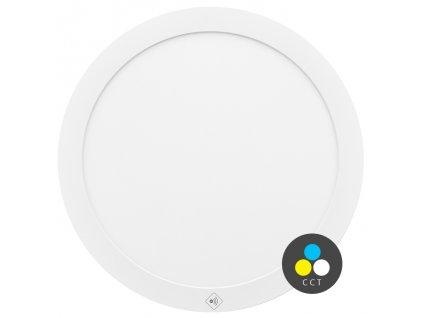 LED stropní svítidlo Ecolite VALI 30W, HF senzor s CCT - nastavení barvy světla LED-IN-24W/HF LED stropní svítidlo 24W Montáž do podhledu i na strop Krytí IP20 - vhodné do interiéru Rozměry ⌀ 33 x 1,9 cm Barva světla CCT teplá/studená bílá Teplota chromatičnosti 3000/6000 K Životnost 30 000 h Svítivost 2 100 lm Svítidlo je vybaveno HF pohybovým senzorem s úhlem pokrytí celých 360˚ a dosahem až 8 metrů při montážní výšce 2,5m. TopLux Osvětlení Praha, Libeň