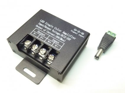 Jednokanálový zesilovač LED signálu AMP7. TopLux Praha skladem
