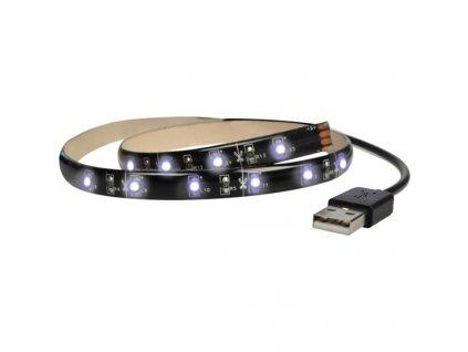 LED pásek za TV do USB 5V 4,8W studená bílá 1m s vypínačem za TV, PC, powerbanky a zásuvky IP65