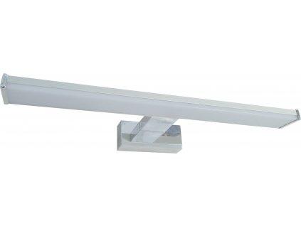 LED svítidlo do koupelny nad zrcadlo MIRROR 8W 40cm stříbrné s mléčným krytem, IP44 koupelnové do vlhkého prostředí, podlouhlé lištové světlo s montáží na zeď přisazením TopLux Osvětlení Praha, Libeň, Sokolovská - skladem za nízké ceny