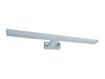 LED svítidlo do koupelny nad zrcadlo MIRROR 12W 60cm stříbrné s mléčným krytem, IP44 koupelnové do vlhkého prostředí, podlouhlé lištové světlo s montáží na zeď přisazením TopLux Osvětlení Praha, Libeň, Sokolovská - skladem na prodejně za nízké ceny