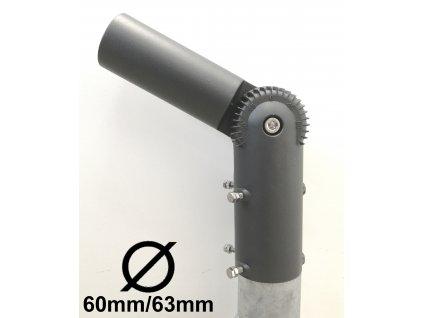 SL adaptér - úhlový kloub na sloup VO redukce 60mm/63mm. TopLux Praha skladem