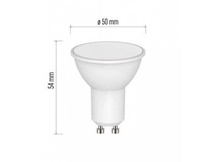 LED bodová žárovka EMOS GU10 230V 4,5W střední svítivost do podhledových svítidel, akční cena 39 Kč, LED bodovka GU10  s úzkým úhlem svitu 120°, přímo na 230V, žárovka s bajonetovou otočnou paticí. TopLux Praha