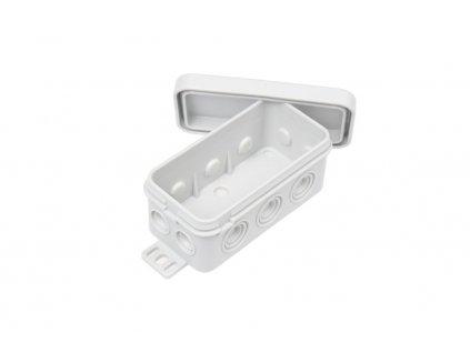 Montážní rozbočovací krabička E126 IP54 šedá 1210076 Rozbočovací krabička do vlhkého prostředí IP54 Pro vodiče až 3 × 2,5 mm2 8 vývodek/průchodů Úzký tvar a šedá barva Montážní rozbočovací krabička s až 8 průchody / vývodky pro kabeláž až 3 × 2,5 mm2. Vnější upevňovací úchyty s příčnými a podélnými otvory zajišťuji možnost pozdějšího vyrovnání na zdi. Spodní část a víčko je vyrobeno z polypropylenu v šedé barvě TopLux Osvětlení Praha, Sokolovská, Libeň - skladem na prodejně za levné ceny