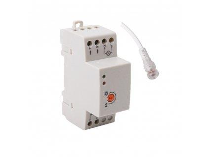 Soumrakový spínač AZ-10A TH 35 s fotočlánkem s maximálním zatížením na 20A disponuje automatickým spínáním. Při úbytku světla čidlo samostatně rozezná úbytek a automaticky se sepne. Není tedy potřeba manuálně nastavovat čas spínání. Spínač se používá pro spínání osvětlení za soumraku a v noci (venkovní a zahradní osvětlení, osvětlení reklam, výloh atd...). TopLux Osvětlení Praha, Libeň - skladem na prodejně